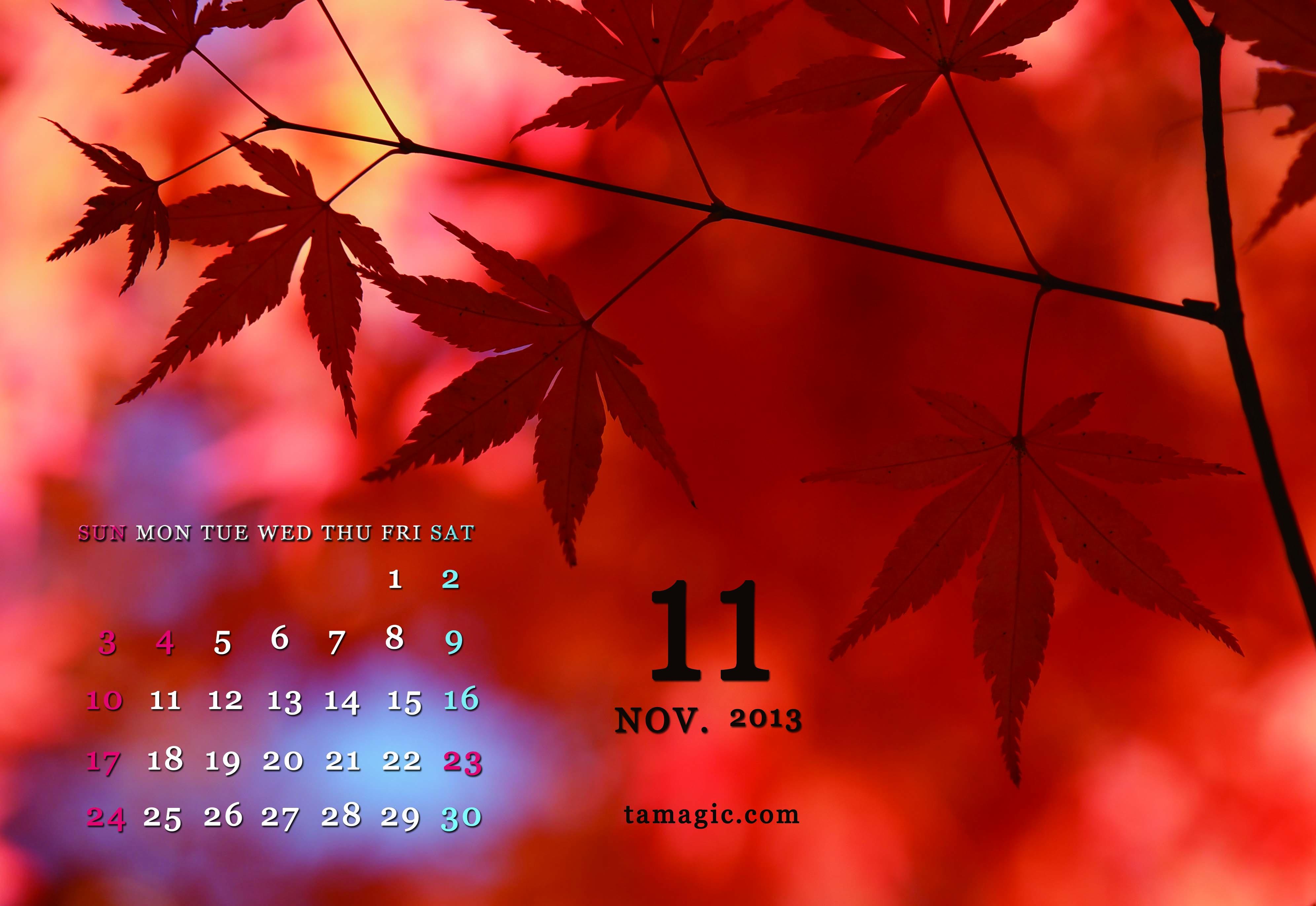 11月デスクトップカレンダー